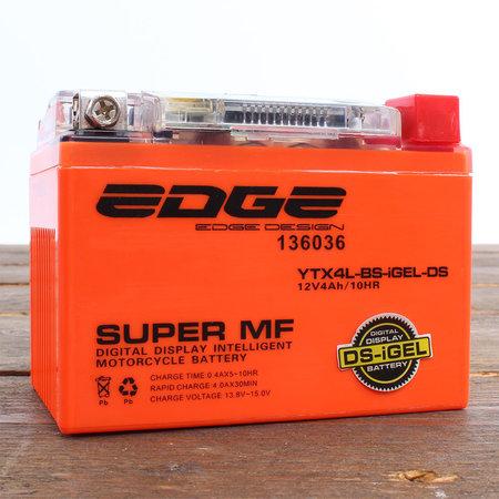Edge Super MF Accu YTX4L-BS Intelligent-Gel (iGel) (11 x 7 x 8,5 cm)