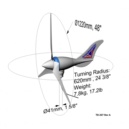 Rutland 1200 Windturbine/ Windgenerator 12V