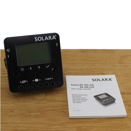 Solara Laadregelaar SR 180 LCD 12/24 Volt - 10A