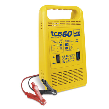 GYS acculader TCB 60 Automatic | 12V 2/4A 85W