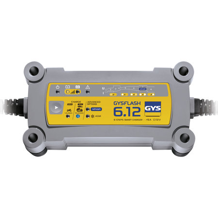 GYS druppellader GYSFLASH 6.12 | 12V 6A 90W