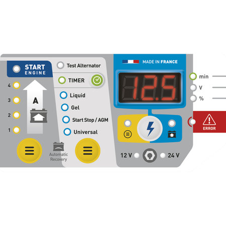 GYS Startium 480E - 12V en 24V Acculader/ Starter