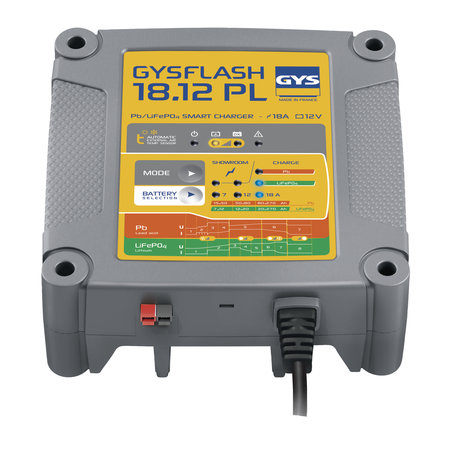 GYS druppellader GYSFLASH 18.12 PL | 12V 7/12/18A 300W