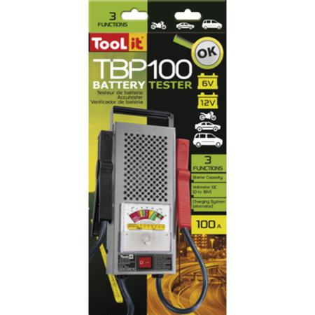 TooLit accutester TBP 100 voor loodaccu's 6/12V | 20-110Ah | met 3 testfuncties