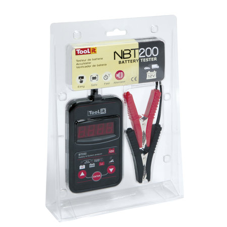 TooLit accutester NBT 200 voor loodaccu's 12V | 20-150Ah | multifunctioneel