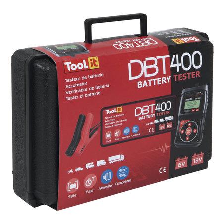 TooLit accutester DBT 400 voor loodaccu's 6/12/24V | 7-230Ah | LCD | Multifunctioneel