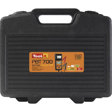 TooLit accutester PBT 700 voor loodaccu's 12/24V   7-230Ah   met display en printer