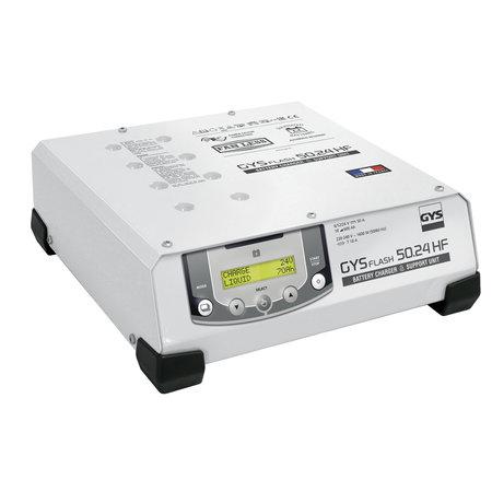 GYS multifunctionele acculader met voeding GYSFLASH 50.24 HF | 6/12/24V | 50A | 5M kabels