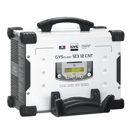 GYS acculader met voeding GYSFLASH 123.12 CNT FV   USB / SMC   120A   5M kabels   Muurbevestiging
