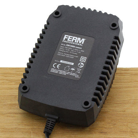 FERM CDA1080S Quick Charger 18V 45W voor diverse accuboormachines