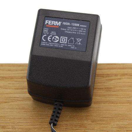 FERM Charger Adapter 14V 0.45A voor boormachines CDM1048, CDM1061, CDM1104