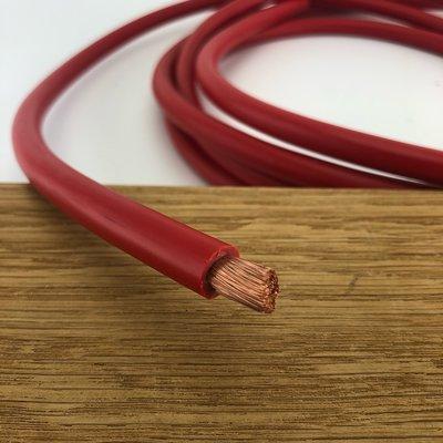 Accukabel rood 10mm² per meter - Enkel geïsoleerd