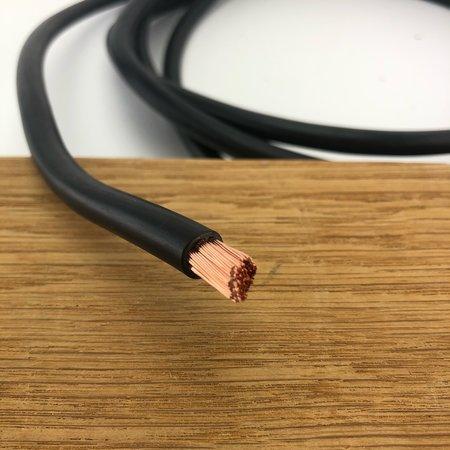 Accukabel zwart 10mm² per meter - Enkel geïsoleerd