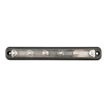 Victron DC verdeelrail/ Busbar 150A - 6 x M6 met kap