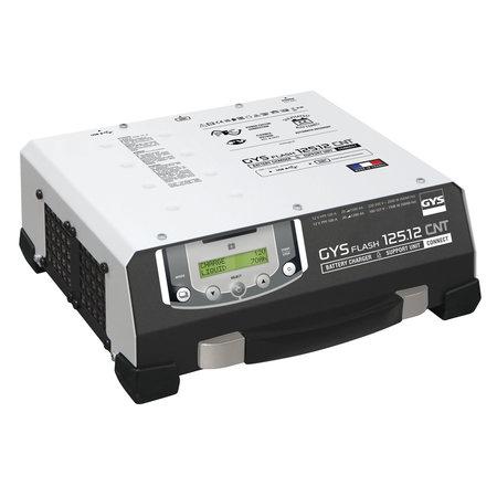 GYS acculader met voeding GYSFLASH 125.12 CNT FV | USB / SMC | 120A | 5M kabels