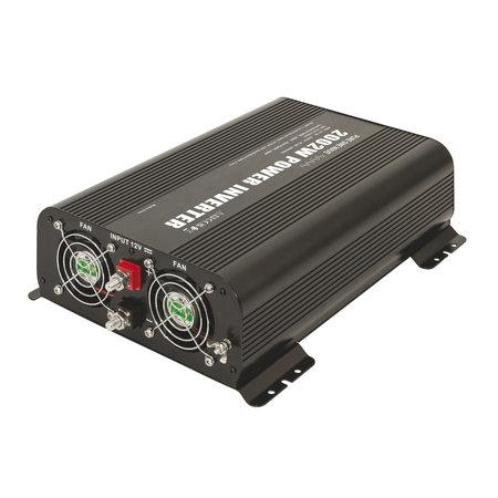 GYS PSW 2002W 12V | Omvormer / inverter | 2 x 230V Schuko + 2 x 5V USB | met afstandsbediening