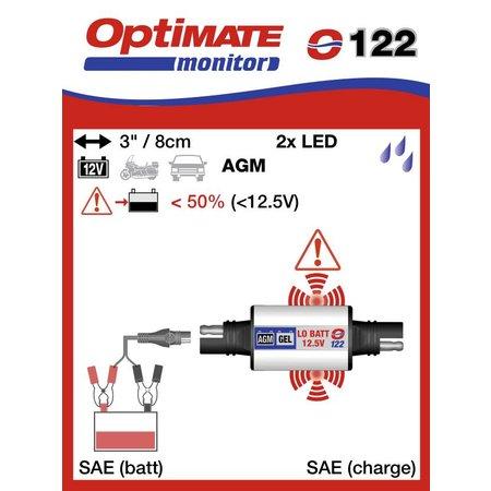 Tecmate SAE spanningsindicator O122 AGM of Gel accu