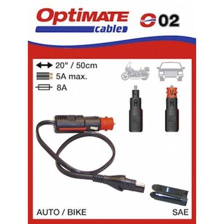 Tecmate Optimate SAE naar sigarettenaansteker of DIN O2