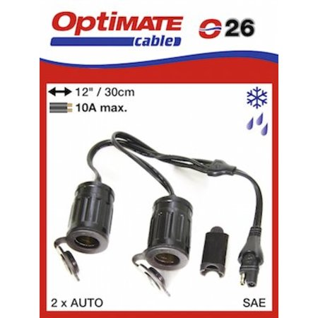 Tecmate Optimate splitter kabel voor autostekker O26