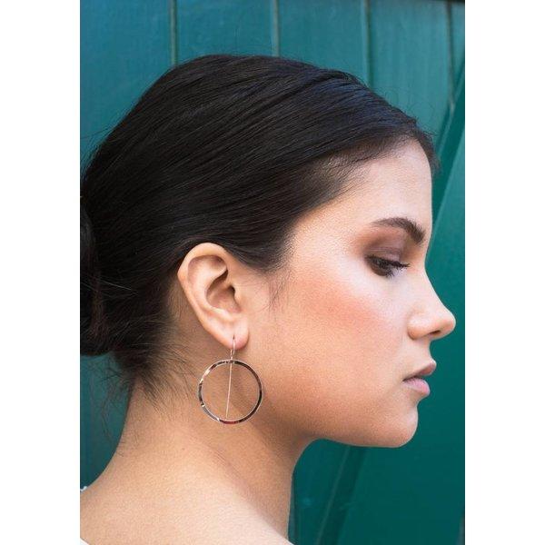 Waves Hoop Earrings - Rose Plated