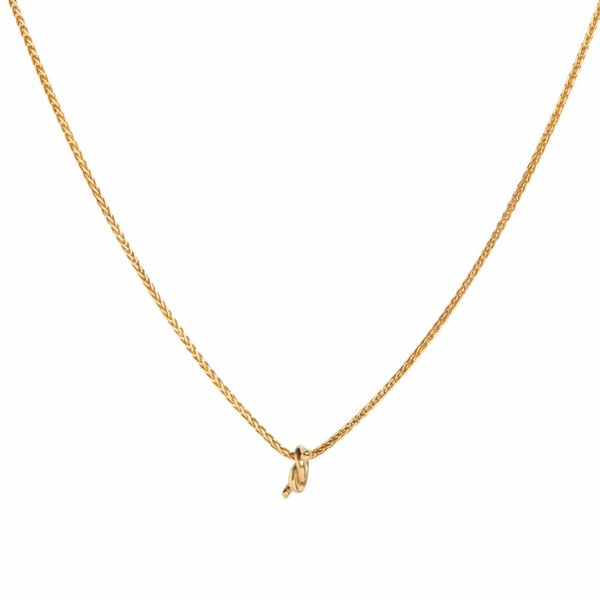 Gold Plated Knot Necklace