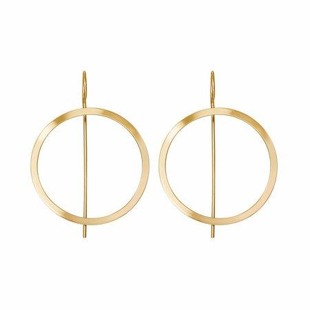 Dutch Basics Waves Hoop Earrings - Gold Plated