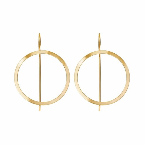 Dutch Basics Waves Hoop Earrings - Gold Plated