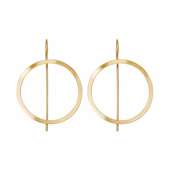 Waves Hoop Earrings - Gold Plated