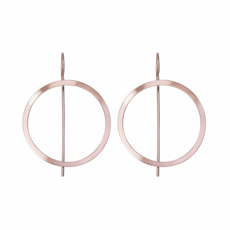Dutch Basics Waves Hoop Earrings - Rose Plated