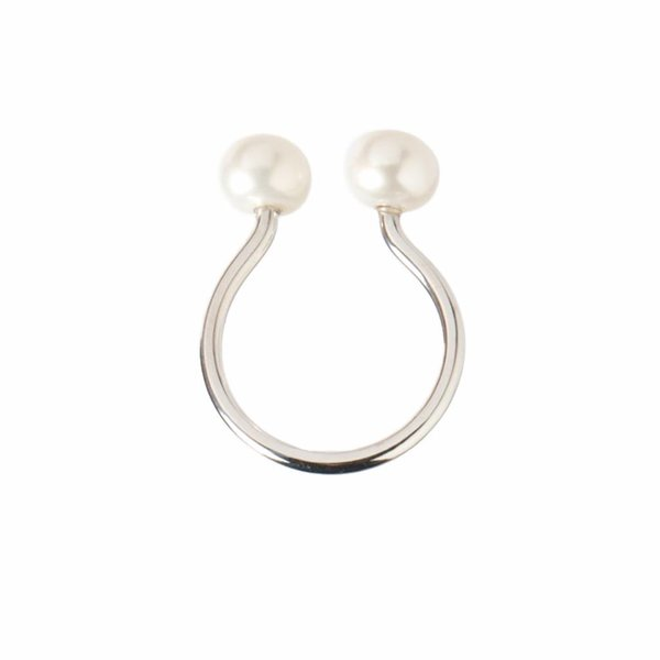 Modern Pearl Ring - Silver