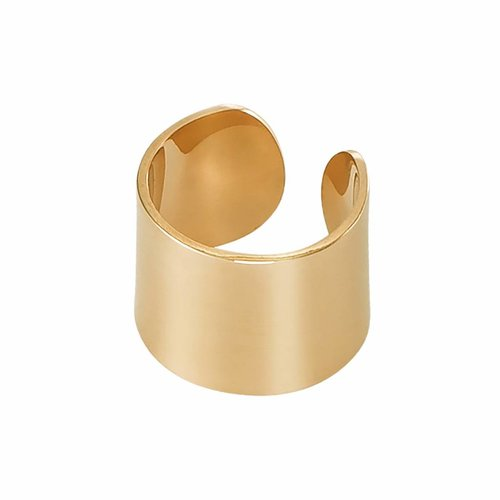 Dutch Basics Thick Ear Cuff  - Gold Plated Silver