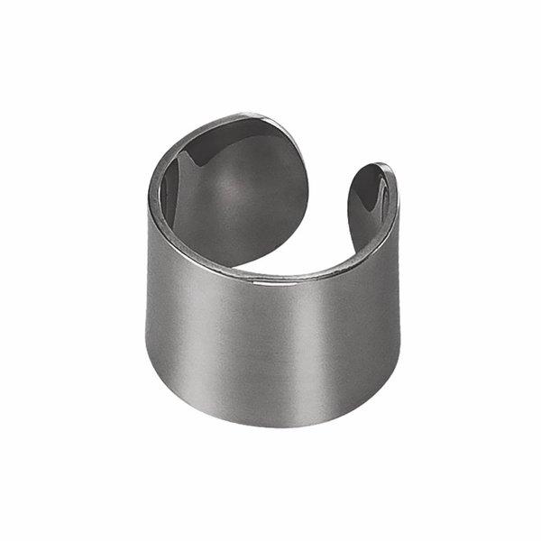 Thick Ear Cuff - Oxidized Silver