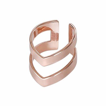 Dutch Basics Rosé Double Point Ear Cuff
