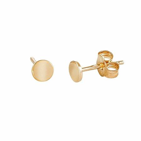 Dutch Basics Gold Plated Dot Earrings