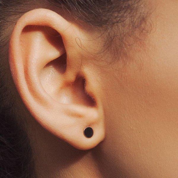 Silver Dot Earrings - Copy