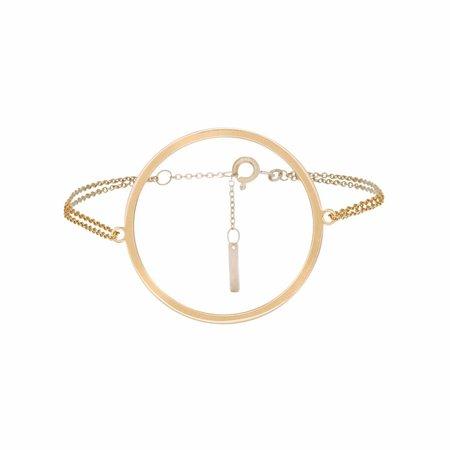 Dutch Basics Circle Bracelet - Gold Plated