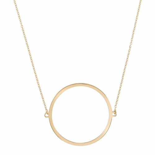 Circle pendant necklace gold modern fine and simple silver chain dutch basics circle necklace gold plated aloadofball Image collections