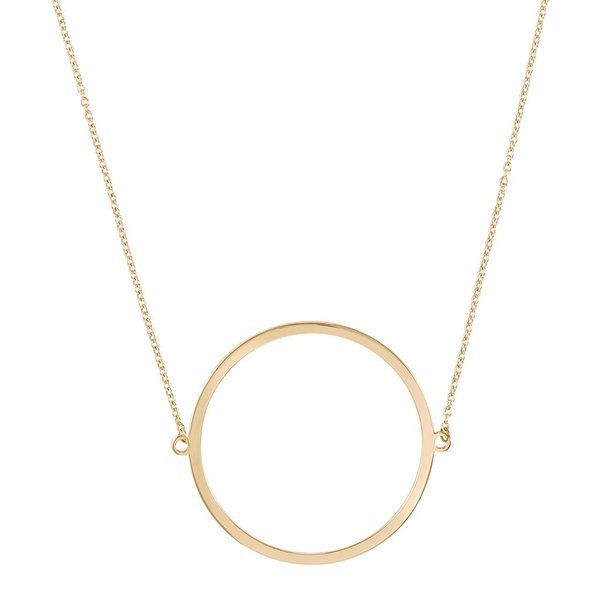Circle Necklace - Gold Plated