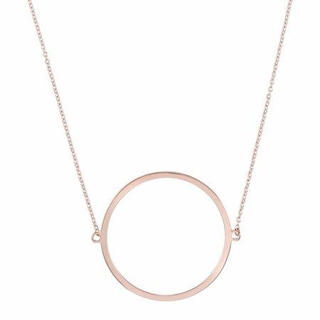 Dutch Basics Circle Necklace - Rose Plated
