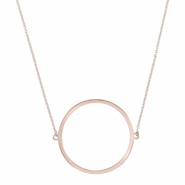 Circle Necklace - Rose Plated