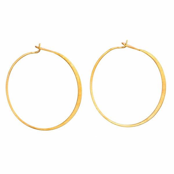Fine Hoop Earrings - Gold-Plated