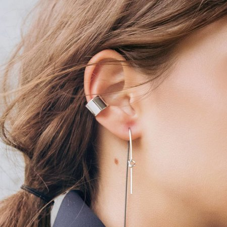 Dutch Basics Thick Silver Ear Cuff