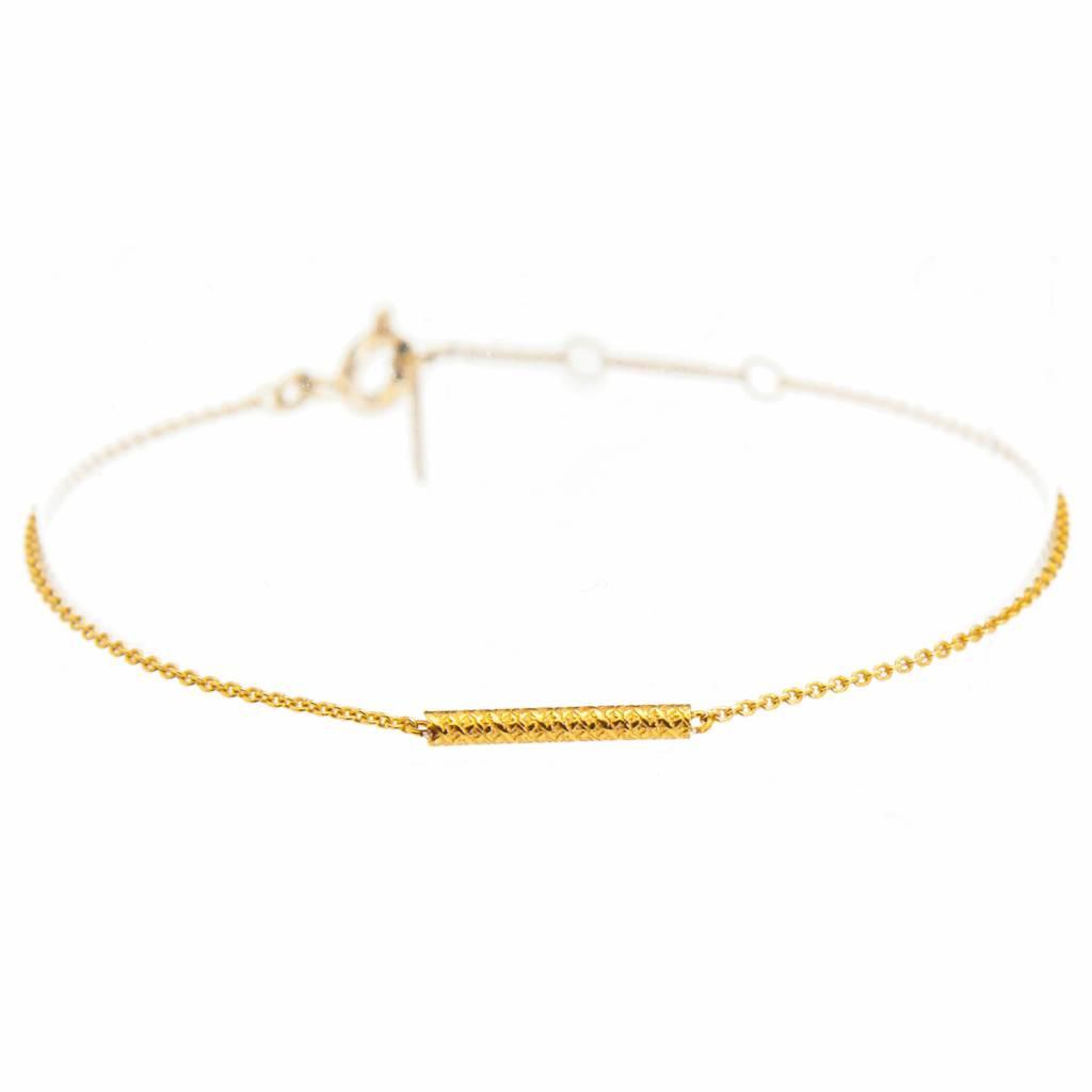 Dutch Basics Gold Plated Cylinder Bar Bracelet 929Pdf