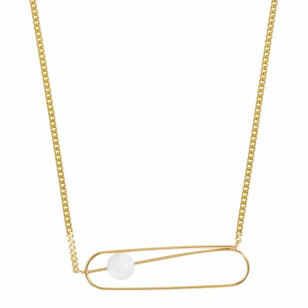 Pin Necklace - Gold Plated