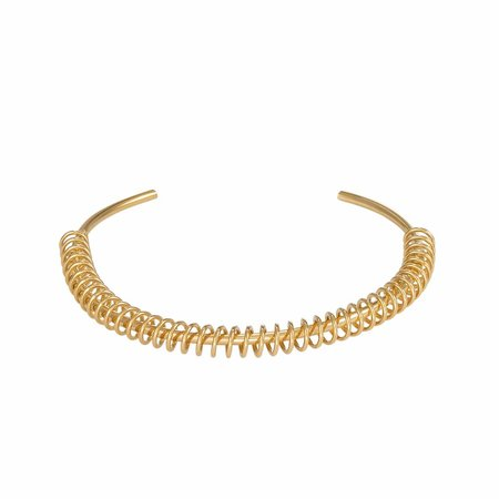 Dutch Basics Spiral Cuff Bracelet - Gold Plated