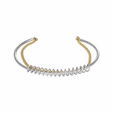 Dutch Basics Silver Spiral Cuff Bracelet