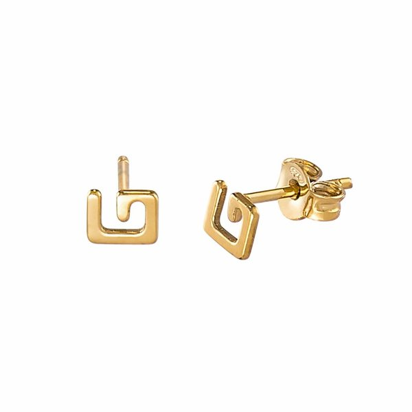 G Stud Earrings - Gold Plated
