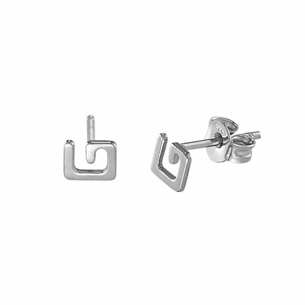 G Stud Earrings - Silver