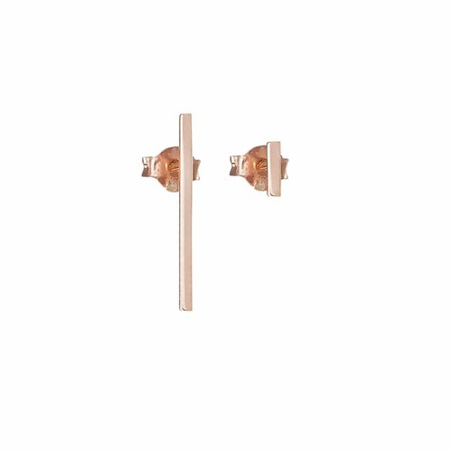 Dutch Basics Thin Bar Earrings - Rose