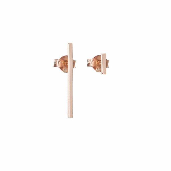 Thin Bar Earrings - Rose